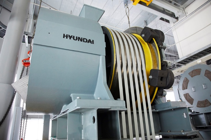 Hyundai Elevator Develops Ultra-high-speed Elevator Using Carbon Fiber Belt